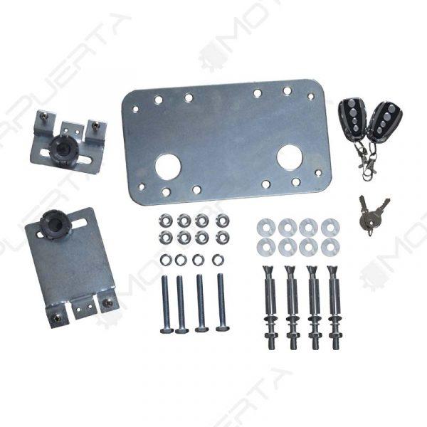 contenido dedl kit del motor para puerta corredera ac600