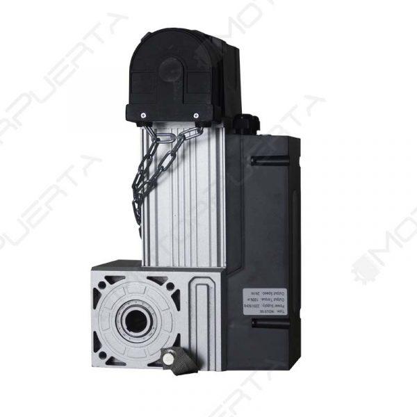 imagen del motor para puerta de garaje indus 100 en posicion vertical
