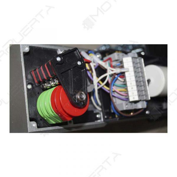 imagen del interior del motor para puerta de garaje indus 100