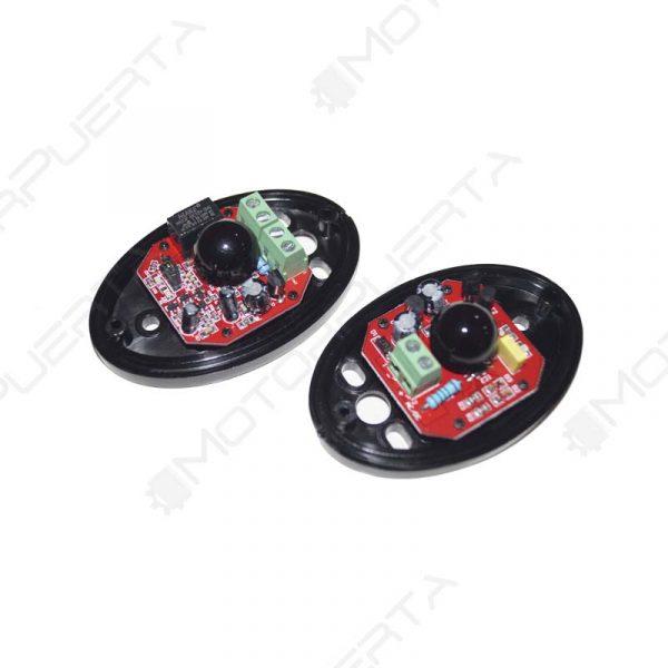 interior de las fotocelulas de seguridad emisor y receptor