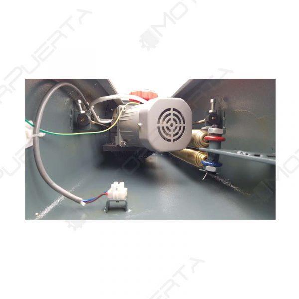 imagen del interior de el mecanismo de la barrera automatica