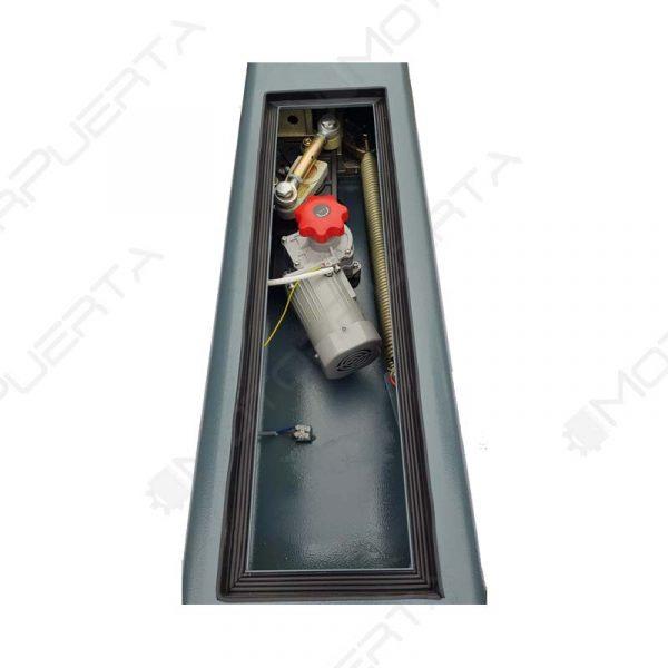 imagen del interior del mecanismo de la barrea automatica