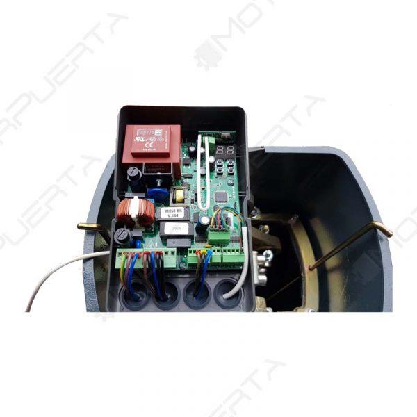 cableado y circuito del cuadro de maniobras de la barrera automatica