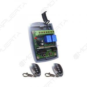 kit receptor y 2 mandos para puertas de garaje