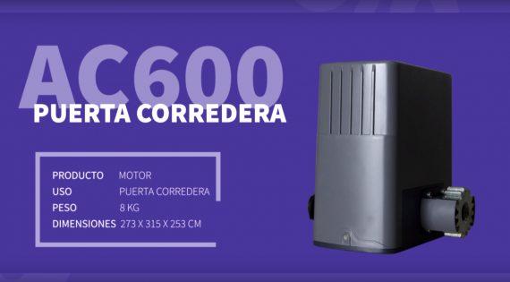 MOTOR PARA PUERTA CORREDERA AC600